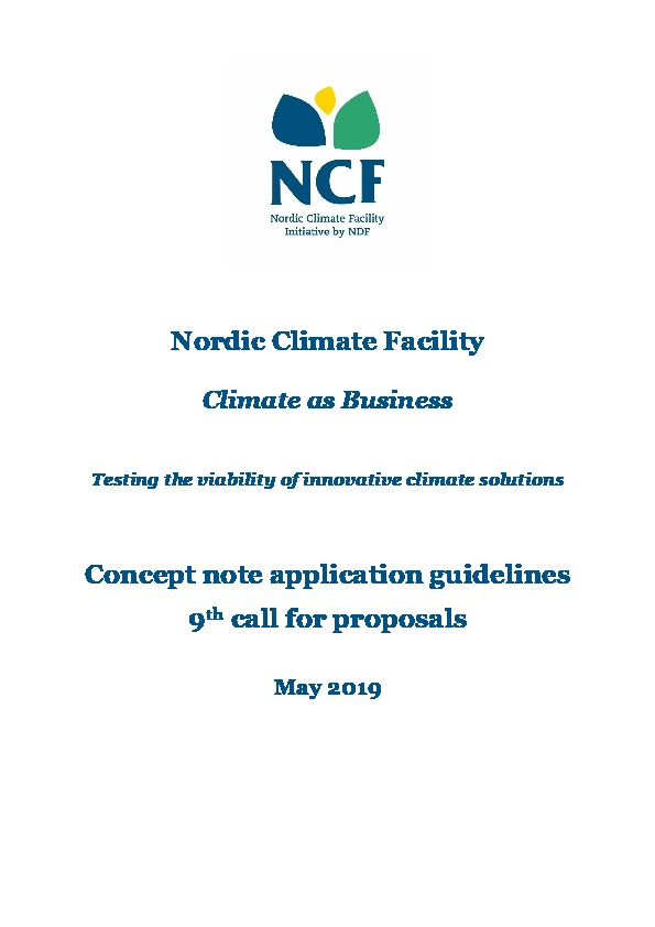 NCF 9 Concept Note Application Guidelines