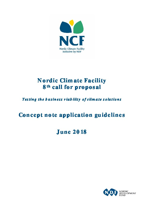 NCF 8 Concept Note Application Guidelines