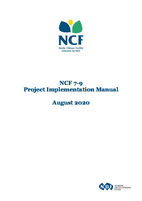 Ncf Project Implementation Manual
